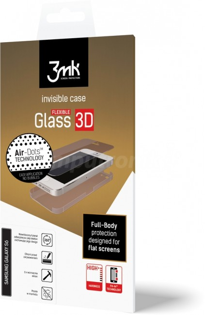 3mk Flexible Glass 3D do iPhone X - zdjęcie główne