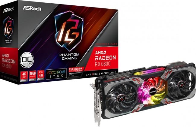 ASRock Radeon RX 6800 Phantom Gaming D 16G OC - zdjęcie główne