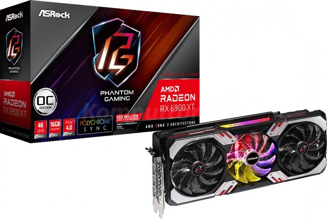 ASRock Radeon RX 6900 XT Phantom Gaming D 16G OC - zdjęcie główne