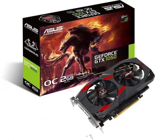 ASUS GeForce GTX 1050 Cerberus OC 2GB - zdjęcie główne