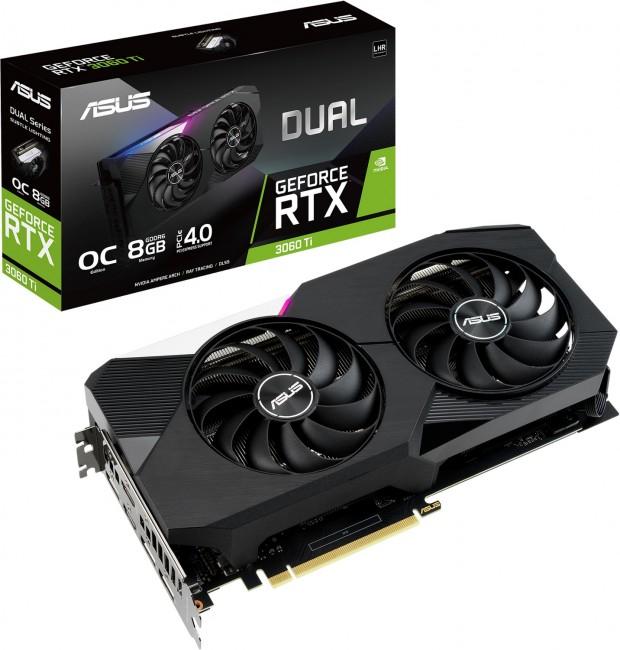 ASUS GeForce RTX 3060 Ti DUAL 8GB OC V2 LHR - zdjęcie główne