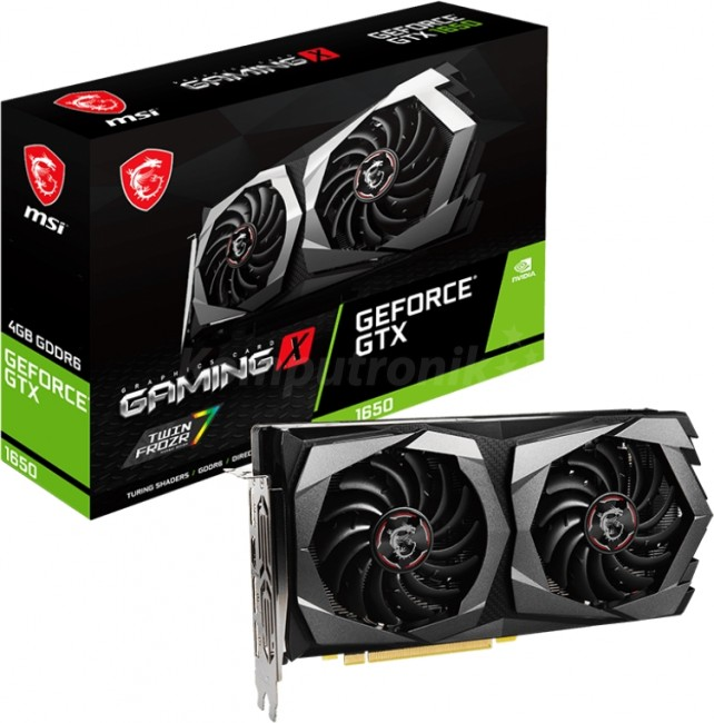 MSI GeForce GTX 1650 GAMING X PLUS 4GB GDDR6 - zdjęcie główne