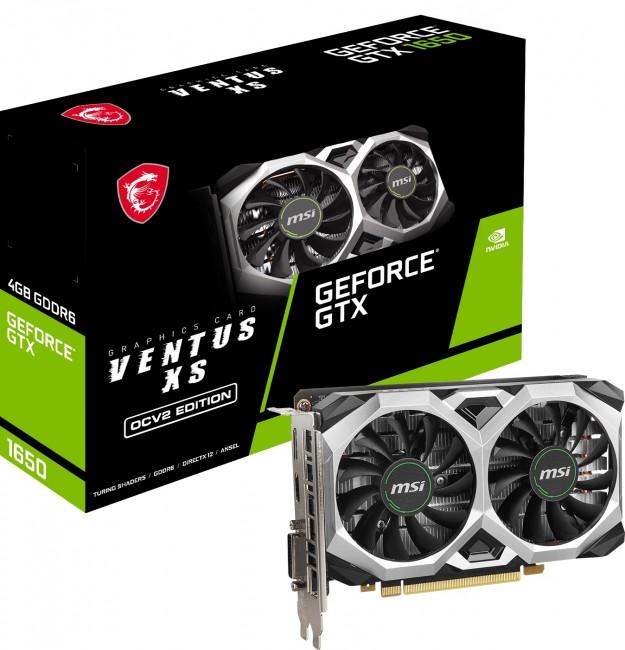 MSI GeForce GTX 1650 VENTUS XS 4GB OC GDDR6 V2 - zdjęcie główne