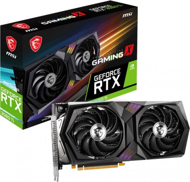 MSI GeForce RTX 3060 Ti GAMING X 8GB OC LHR - zdjęcie główne