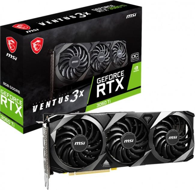 MSI GeForce RTX 3060 Ti VENTUS 3X 8GB OC LHR - zdjęcie główne