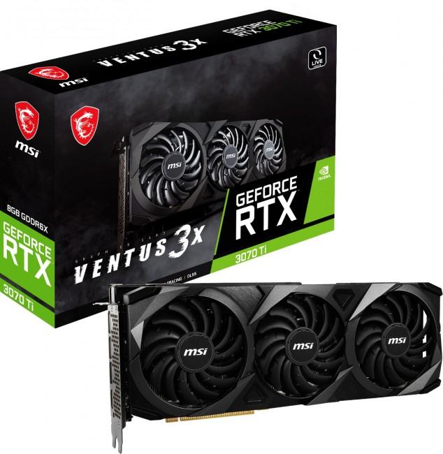 MSI GeForce RTX 3070 Ti VENTUS 3X 8G - zdjęcie główne