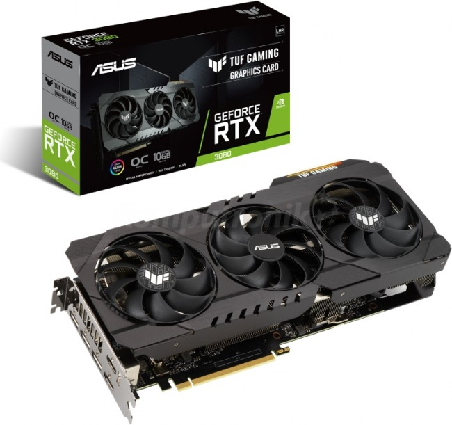 ASUS GeForce RTX 3080 TUF Gaming 10GB OC V2 LHR - zdjęcie główne