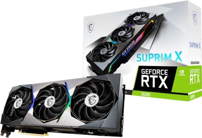 MSI GeForce RTX 3080 SUPRIM X 10GB LHR - zdjęcie główne