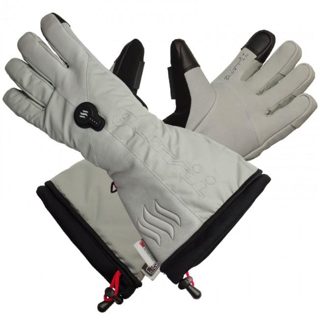 Glovii ogrzewane rękawice narciarskie rozm. XL szare - zdjęcie główne