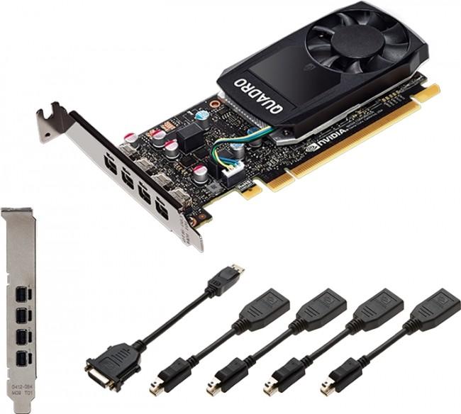 PNY Quadro P1000 4GB V2 4x mDP/DP - zdjęcie główne
