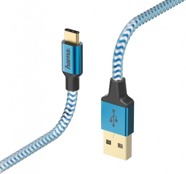 Hama USB-C Reflected 1.5m niebieski - zdjęcie główne