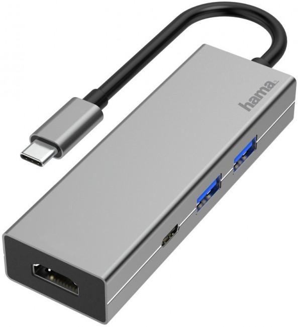 Hama Hub Muliport USB-C - zdjęcie główne