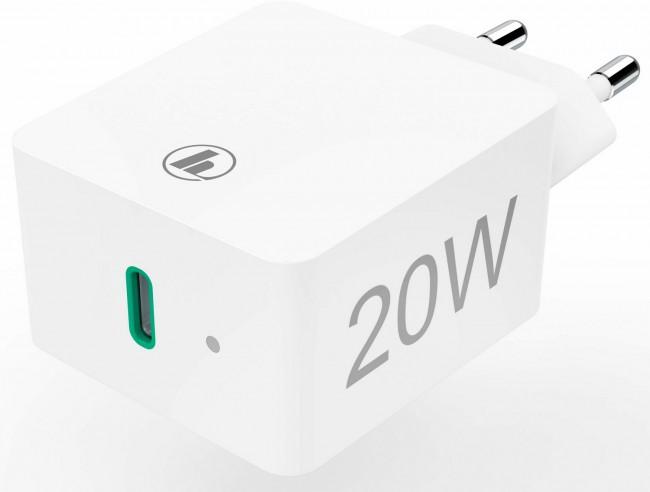 Hama Wall Charger USB-C Power Delivery (PD)/Qualcomm® 20W, biała - zdjęcie główne