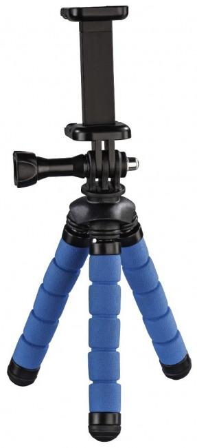 Hama mini statyw Flex 2w1 14 cm niebieski - zdjęcie główne