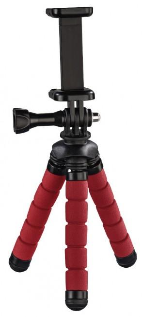 Hama mini statyw Flex 2w1 14 cm czerwony - zdjęcie główne