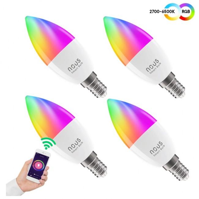 Nous E14 P4 RGBW świeczka (4-pak) - zdjęcie główne