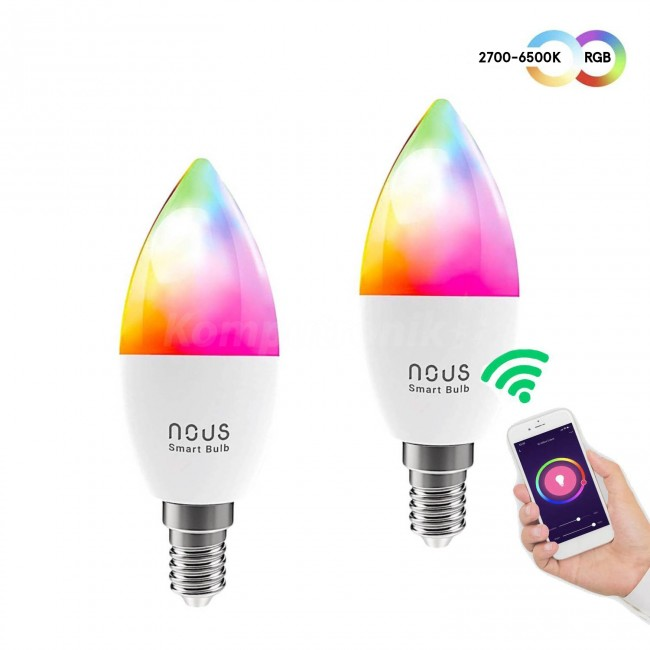 Nous E14 P4 RGBW świeczka (2-pak) - zdjęcie główne