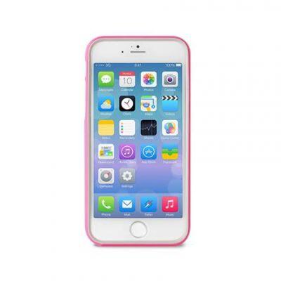 Puro Bumper Cover iPhone 6 Plus różowy + folia - zdjęcie główne