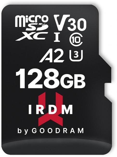 GOODRAM micro SDXC IRDM 128GB V30 A2 (UHS I U3) + adapter - zdjęcie główne