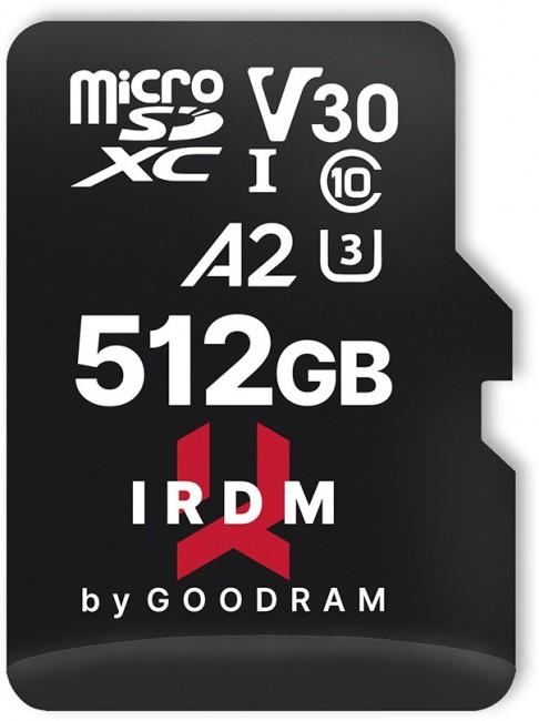 GOODRAM micro SDXC IRDM 512GB V30 A2 (UHS I U3) + adapter - zdjęcie główne