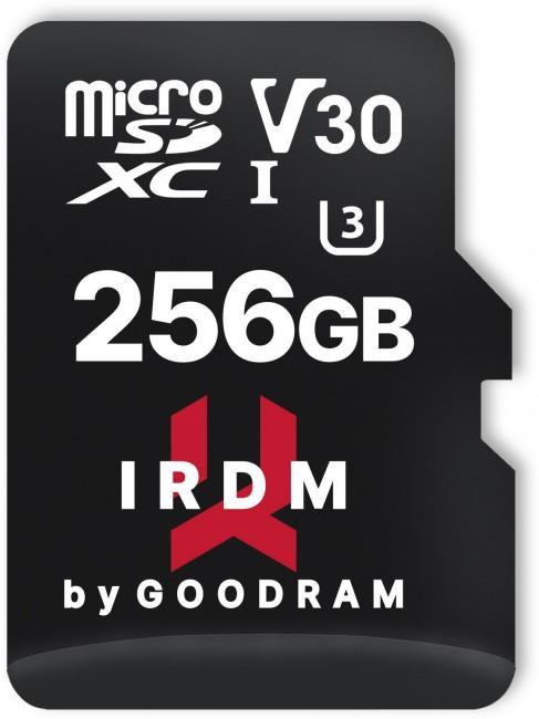 GOODRAM IRDM 256GB microSD UHS-I U3 + adapter - zdjęcie główne