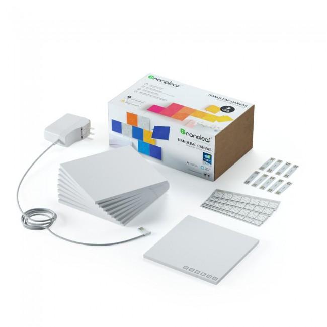 Nanoleaf Canvas Starter Kit 9 kwadraty [oferta Outlet] - zdjęcie główne