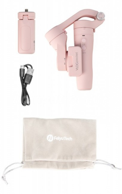 Feiyu-Tech VLOG POCKET 2 for Smartphones różowy - zdjęcie główne