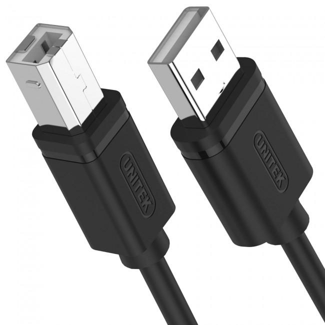 Unitek USB-B 2.0m czarny - zdjęcie główne