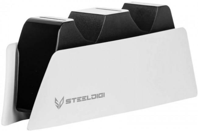 SteelDigi Stacja ładująca 2 x pad DualSense PS5 biała - zdjęcie główne