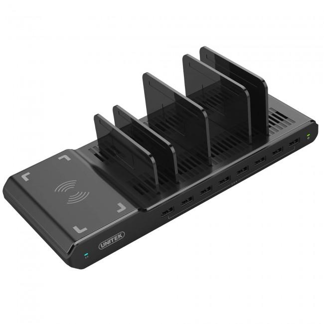 Unitek Charging Station 8x USB czarny - zdjęcie główne