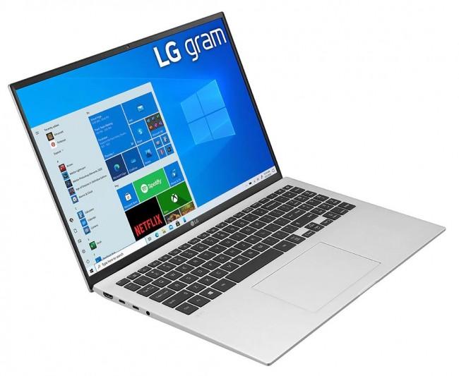 """LG GRAM 16"""" 2021 (16Z90P-G.AA56Y) - srebrny - zdjęcie główne"""