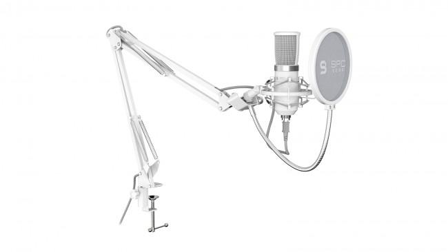SPC Gear SM950 Onyx White Streaming Microphone USB - zdjęcie główne