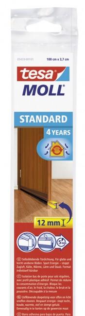 tesa uszczelka szczotkowa pod drzwi Standard 1m/37 mm brązowa - zdjęcie główne