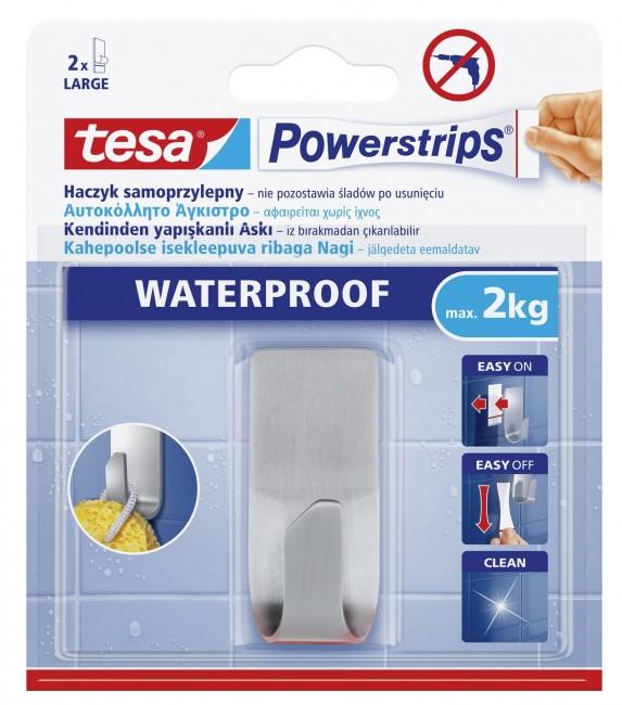 tesa haczyk samoprzylepny Powerstrips Waterproof do metalu, 1 szt. duży - zdjęcie główne