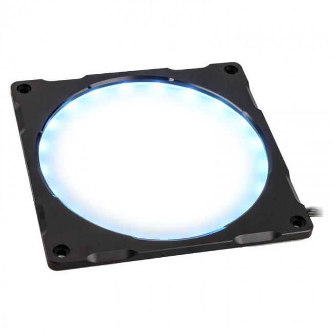 PHANTEKS Halos Lux ramka 140mm, RGB-LED, aluminium - czarna - zdjęcie główne