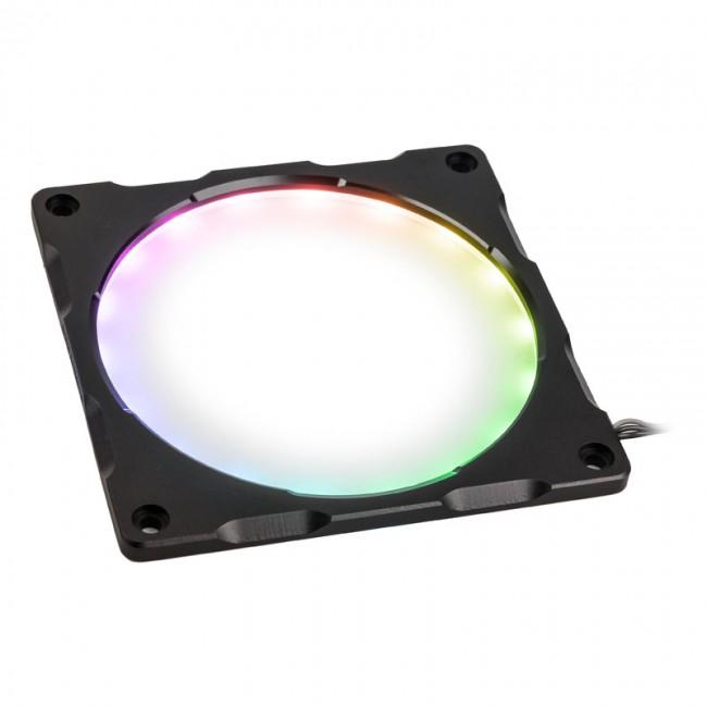 PHANTEKS Halos Lux Digital ramka 120mm, Digital-RGB-LED, aluminium - czarna - zdjęcie główne