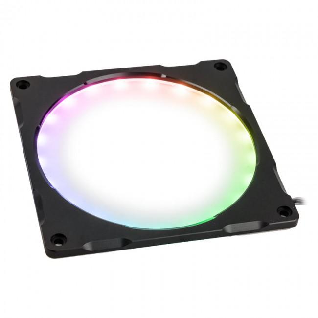PHANTEKS Halos Lux Digital ramka 140mm, Digital-RGB-LED, aluminium - czarna - zdjęcie główne