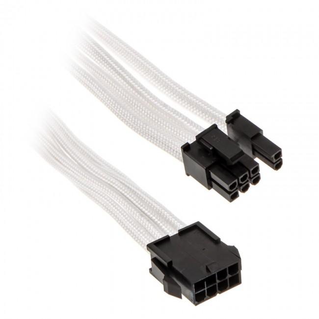 PHANTEKS przedłużacz oplatany 6+2-pin PCIe, 500mm - biały - zdjęcie główne