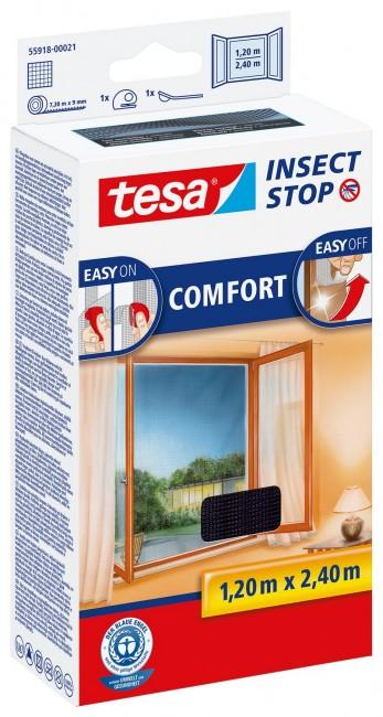 tesa Moskitiera Okienna Comfort 55918-00021-00 Czarna - zdjęcie główne