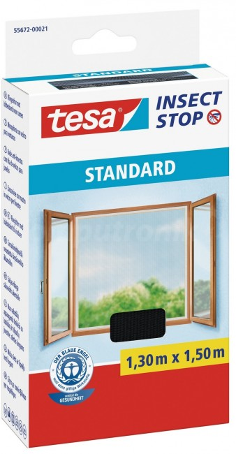 tesa Moskitiera Okienna Standard 55672-00021-03 Czarna - zdjęcie główne