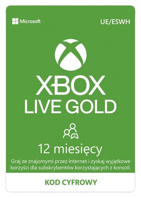 Microsoft Xbox Live Gold 12 miesięcy - wersja cyfrowa ESD - zdjęcie główne