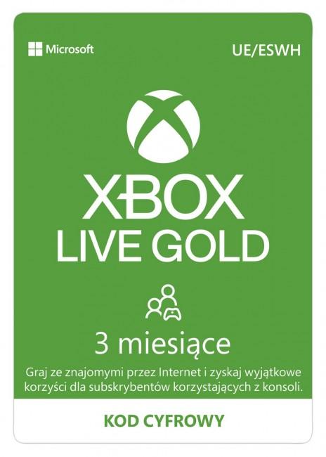 Microsoft Xbox Live Gold 3 miesiące - wersja cyfrowa ESD - zdjęcie główne