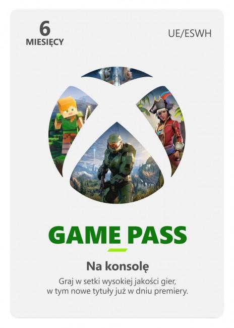 Microsoft Xbox Game Pass 6 miesięcy - wersja cyfrowa ESD - zdjęcie główne