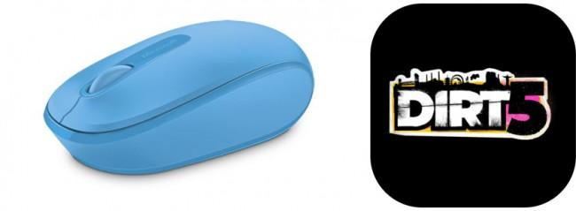 Microsoft Mobile Mouse 1850 Cyan Blue + Gra PC DIRT 5 - zdjęcie główne