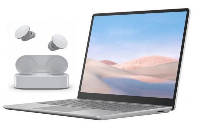 Microsoft Surface Laptop Go Platynowy+ EARBUDS Białe - zdjęcie główne