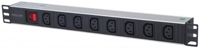 """Intellinet listwa zasilająca PDU 1U do szaf rack 19"""" z wyłącznikiem - zdjęcie główne"""