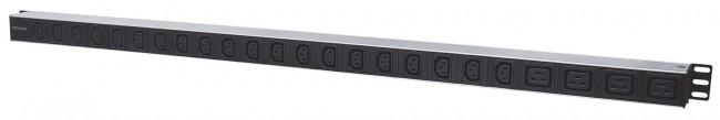 Intellinet 163675 Pionowa listwa zasilająca (PDU) 20 gniazd C13 + 4 gniazda C19, max. 10A - zdjęcie główne