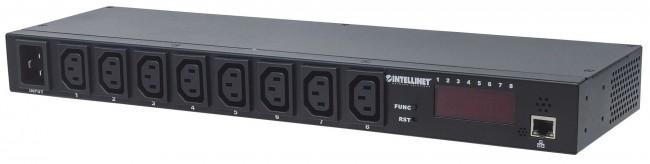 """Intellinet listwa zasilająca PDU 1U zarządzalna po IP z wyświetlaczem do szaf rack 19"""" - zdjęcie główne"""