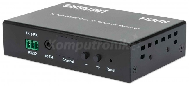 Intellinet 208246 Odbiornik Extendera HDMI Over IP 120m kompresja H.264 1080p - zdjęcie główne