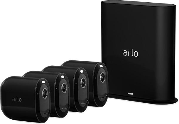 Arlo Pro 3 2K QHD Kamera 4-pack (czarna) - zdjęcie główne